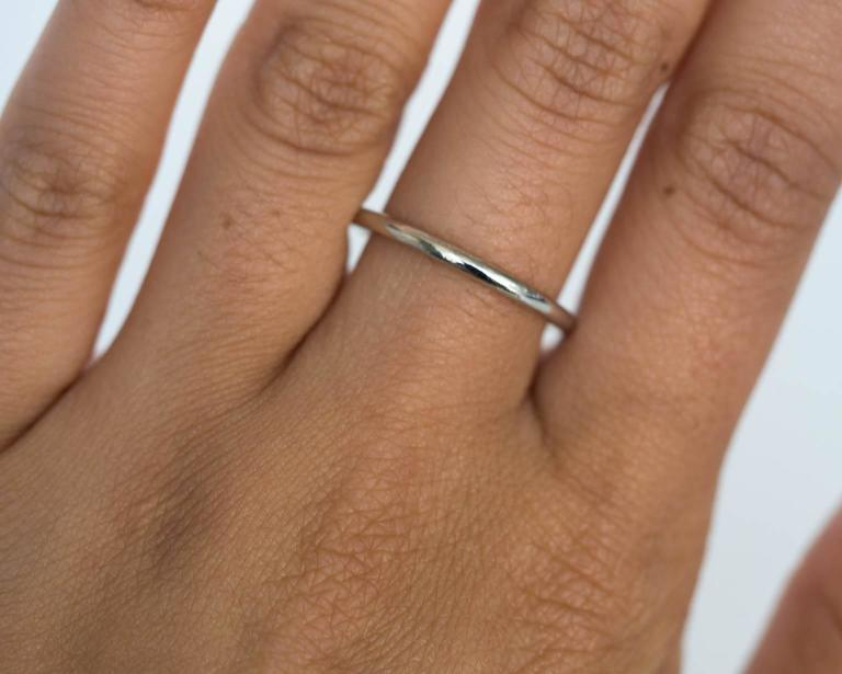 Ultra Thin Platinum Wedding Band Ring For 1