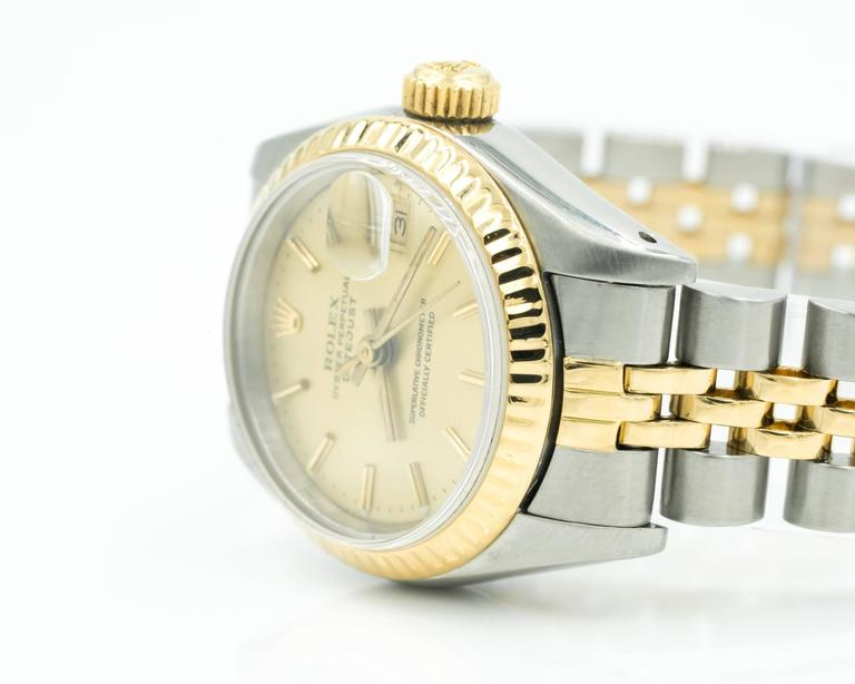 1980s Ladies Rolex Datejust Two Tone with Jubilee Bracelet 4