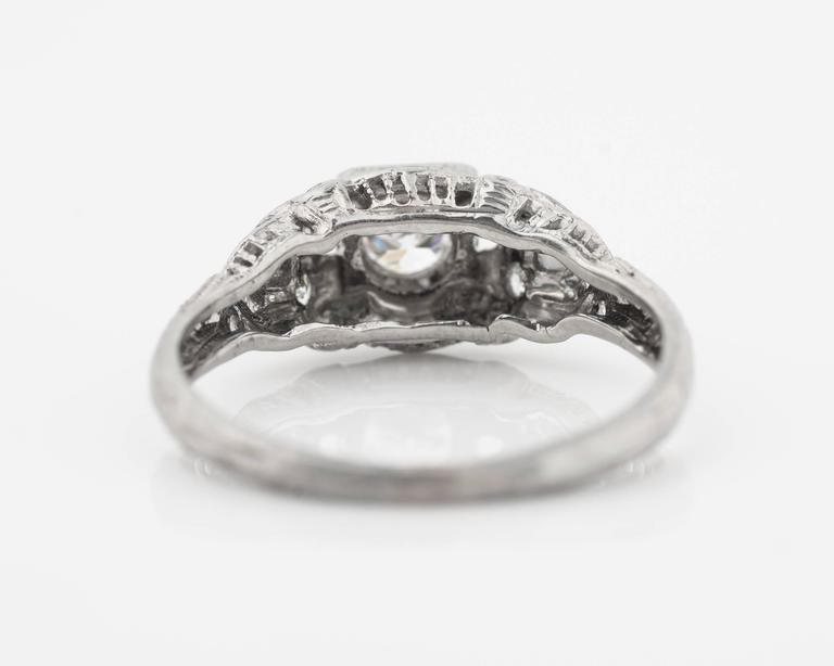1920s Intricate Diamond Engagement Ring 6
