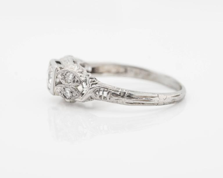 1920s Intricate Diamond Engagement Ring 3