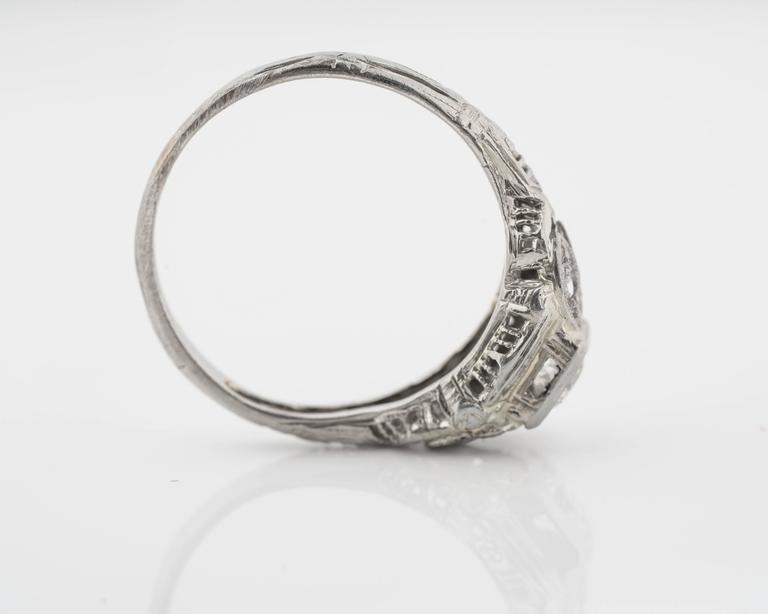 1920s Intricate Diamond Engagement Ring 4