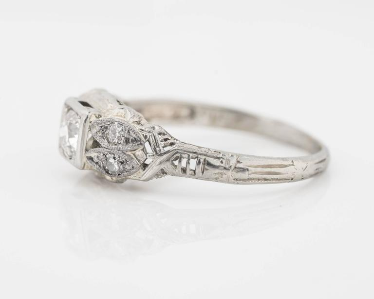 1920s Intricate Diamond Engagement Ring For Sale at 1stdibs