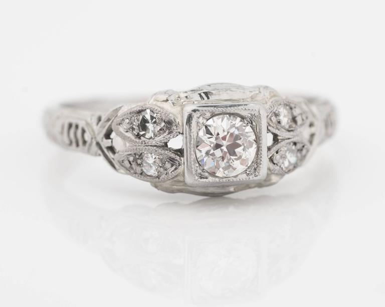 1920s Intricate Diamond Engagement Ring 2