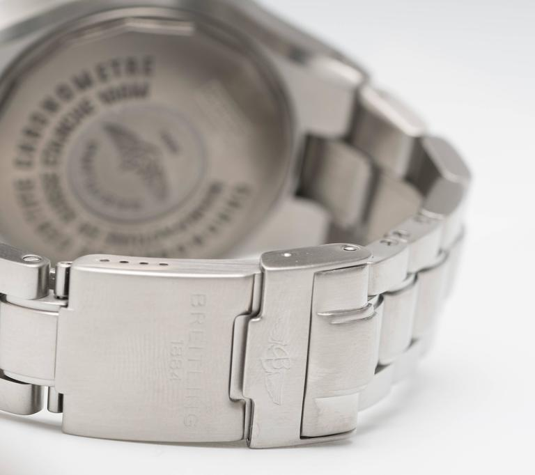Breitling Stainless Steel Hercules Chronograph Automatic Wristwatch Ref A39363 4
