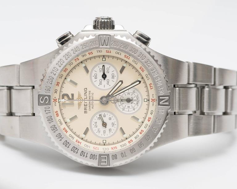 Breitling Stainless Steel Hercules Chronograph Automatic Wristwatch Ref A39363 5