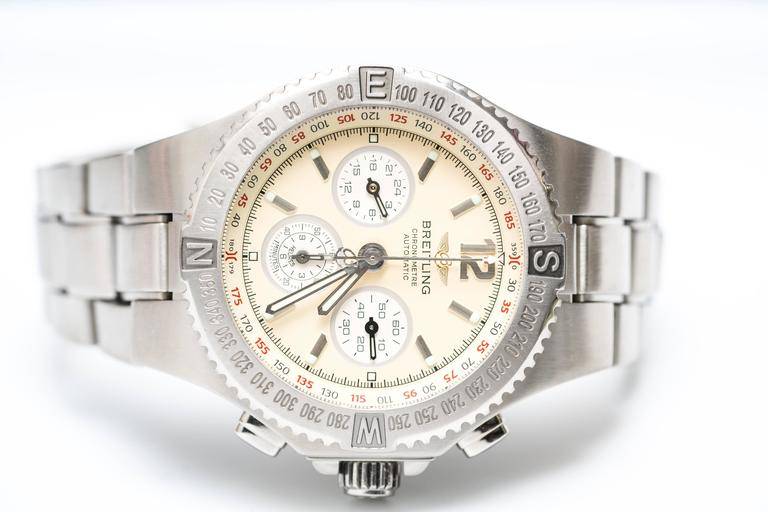 Breitling Stainless Steel Hercules Chronograph Automatic Wristwatch Ref A39363 7