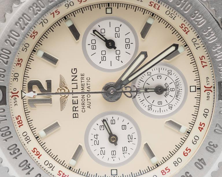 Breitling Stainless Steel Hercules Chronograph Automatic Wristwatch Ref A39363 8