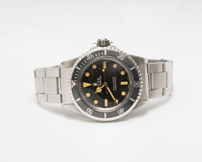 Women's or Men's Rolex 5513 Matte Submariner Watch For Sale