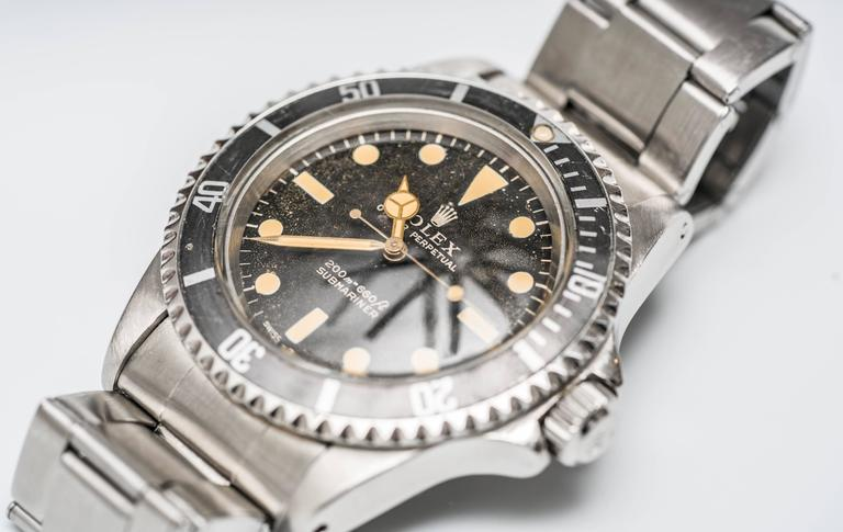 Rolex 5513 Matte Submariner Watch In Good Condition For Sale In New York, NY