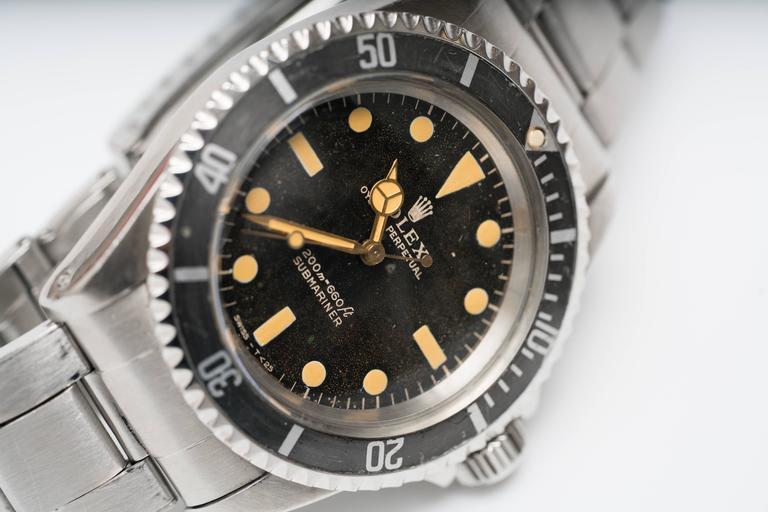Retro Rolex 5513 Matte Submariner Watch For Sale