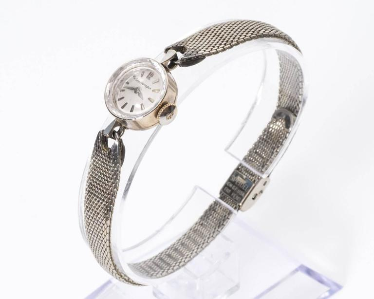 1960s Girard Perregaux Wrist Watch Face made of crystal Laser-etched border adds beautiful light reflects along frame Hours are marked by Ticks except for the