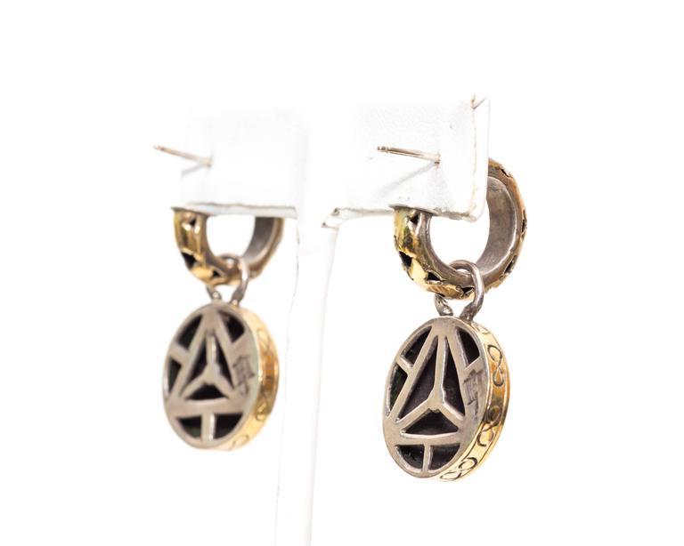 John hardy sterling silver gold earrings for sale at 1stdibs for John hardy jewelry earrings