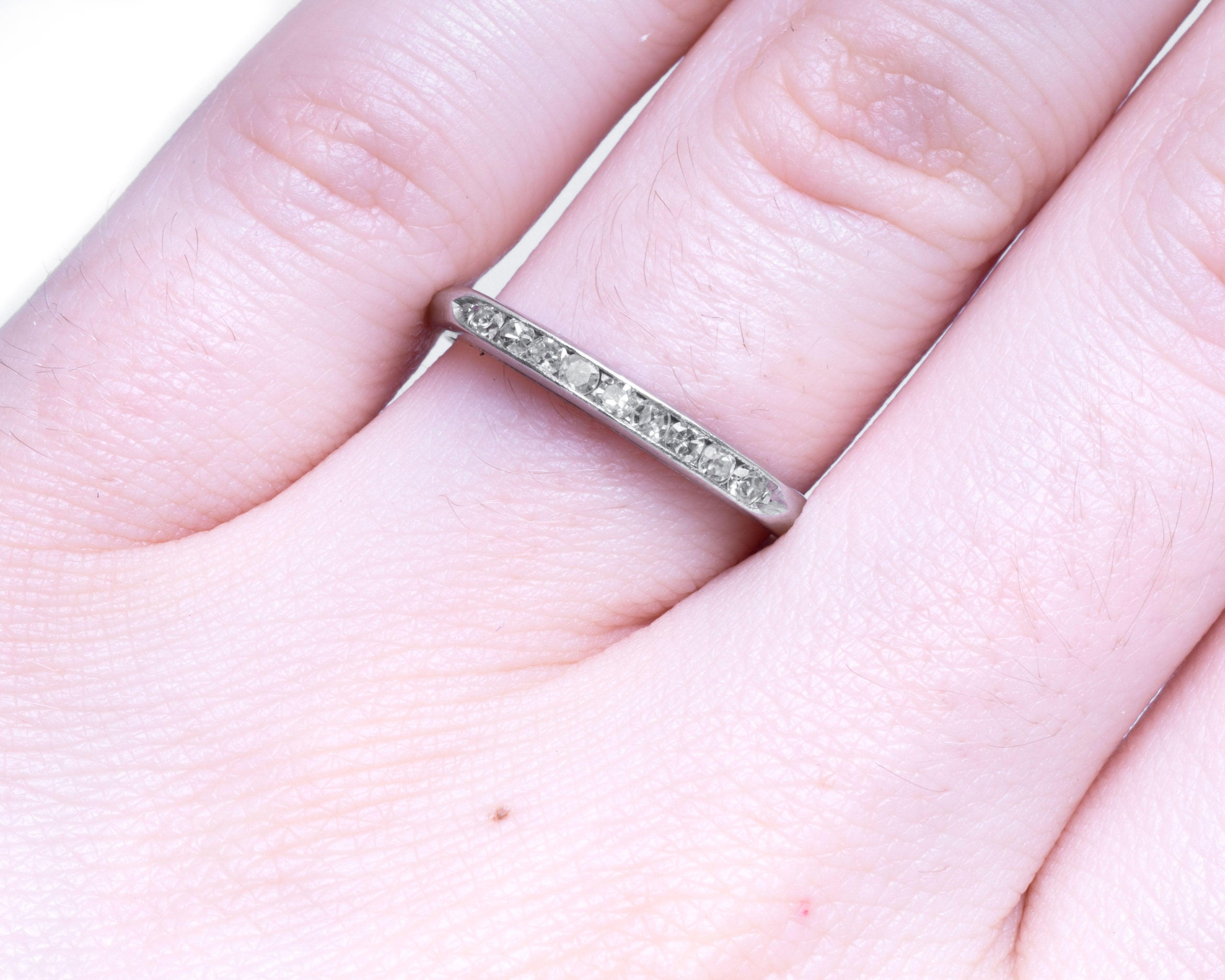 1930s Art Deco .15 Carat Diamonds Platinum Wedding Band Ring For ...