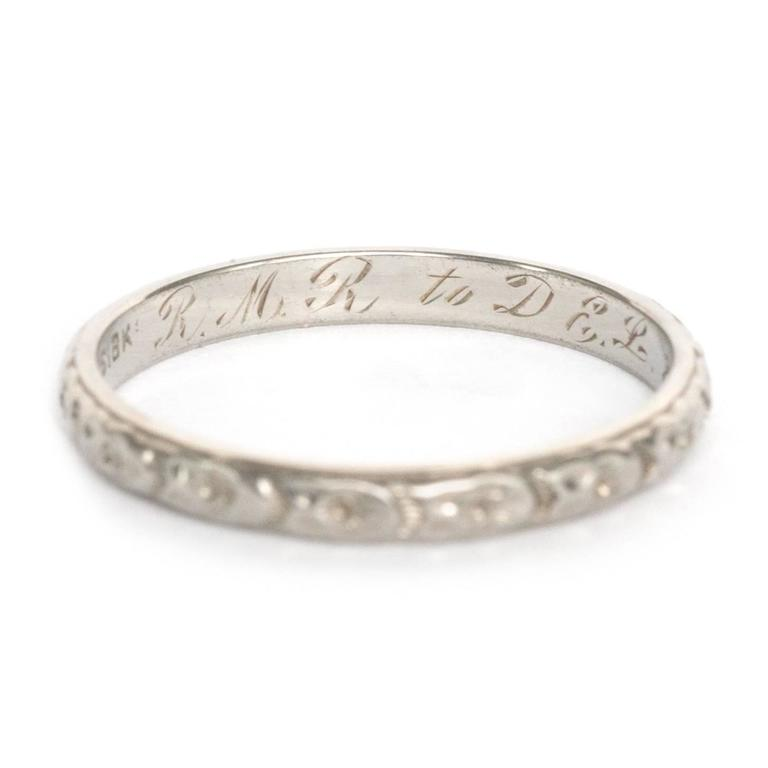 Item Details:  Ring Size: 7.15 Metal Type: 14 Karat White Gold Weight: 2.1 grams  Finger to Top of Stone Measurement: 1.30mm