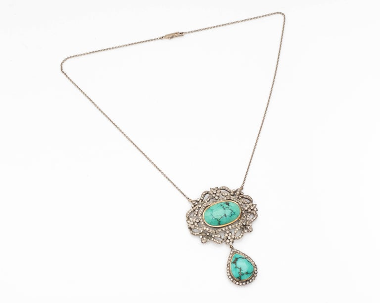Diamond and Turquoise Necklace 5