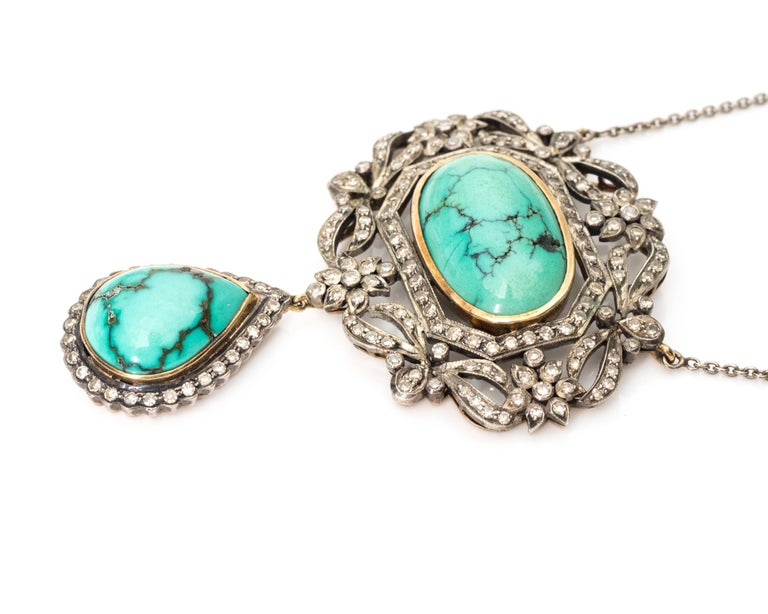 Diamond and Turquoise Necklace 2