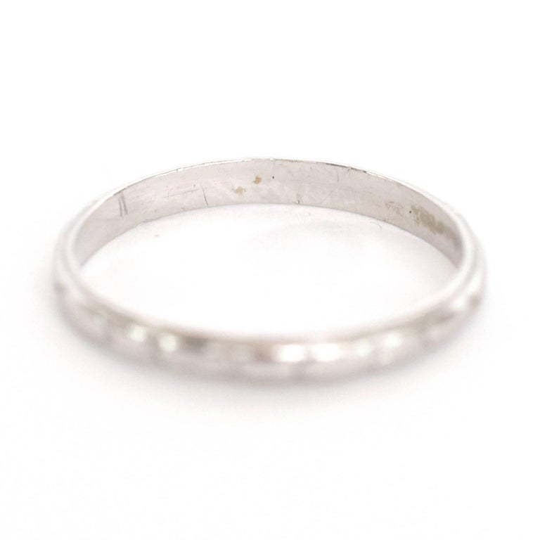 Item Details:  Ring Size: 6 Metal Type: Platinum Weight: 2.2 grams  Finger to Top of Stone Measurement: 1.06mm