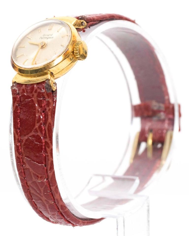 Retro Girard Perregaux Ladies Yellow Gold Wristwatch, 1950s For Sale