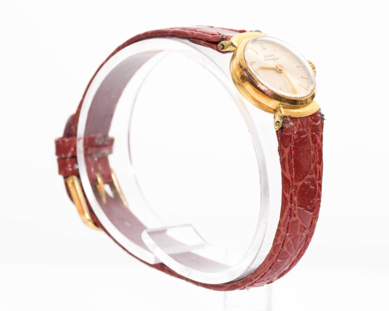 Girard Perregaux Ladies Yellow Gold Wristwatch, 1950s In Good Condition For Sale In New York, NY