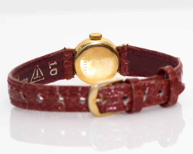 Girard Perregaux Ladies Yellow Gold Wristwatch, 1950s For Sale 2