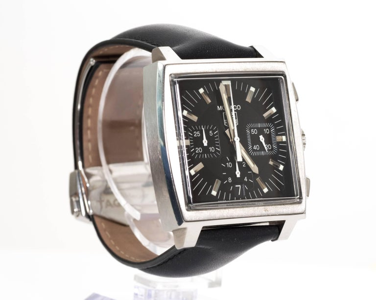 Tagheur Monaco Stainless Steel Wristwatch 2