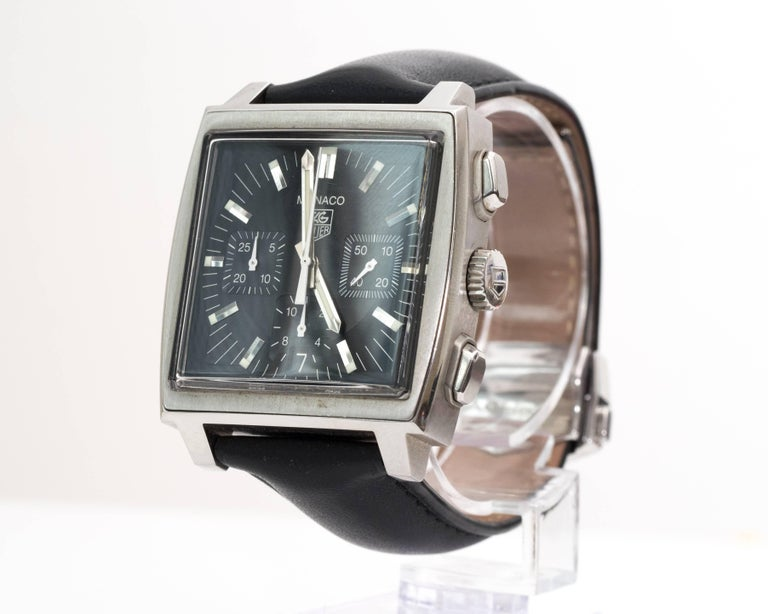 Tagheur Monaco Stainless Steel Wristwatch 3