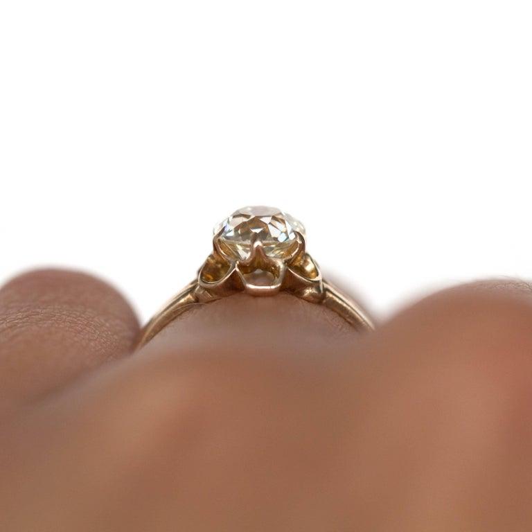 1890s Victorian 1.05 Carat Diamond 14 Karat Yellow Gold Engagement Ring For Sale 5