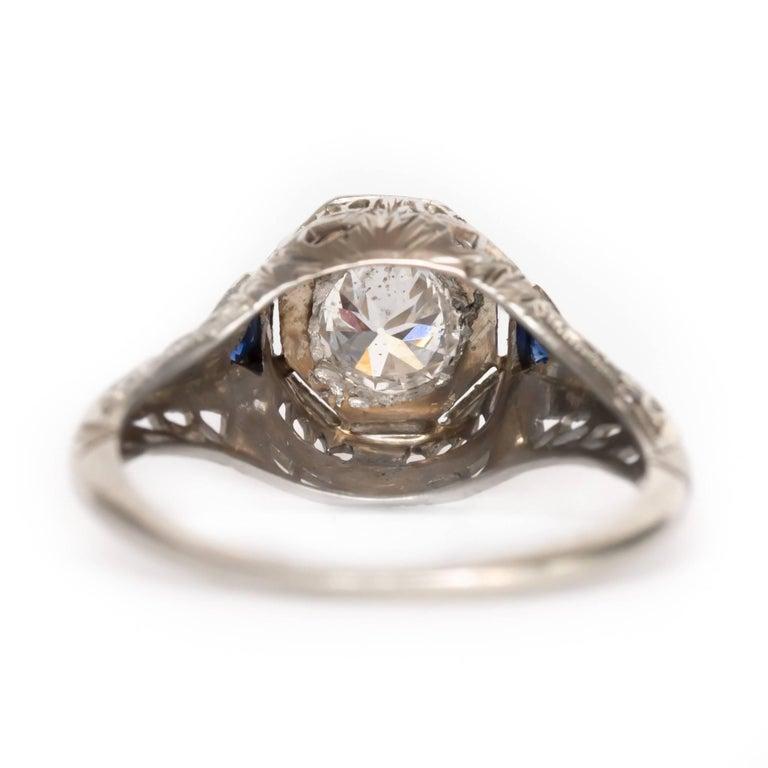 36 carat 18 karat white gold and sapphire