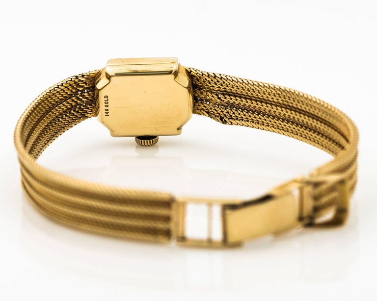 1950s Rolex 14K Yellow Gold Ladies Wrist Watch For Sale 1