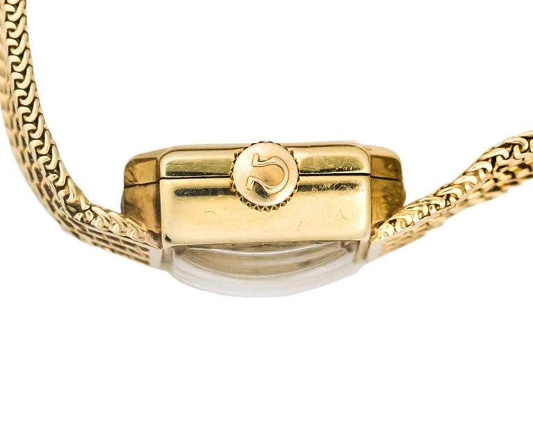 1950s Rolex 14K Yellow Gold Ladies Wrist Watch For Sale 4