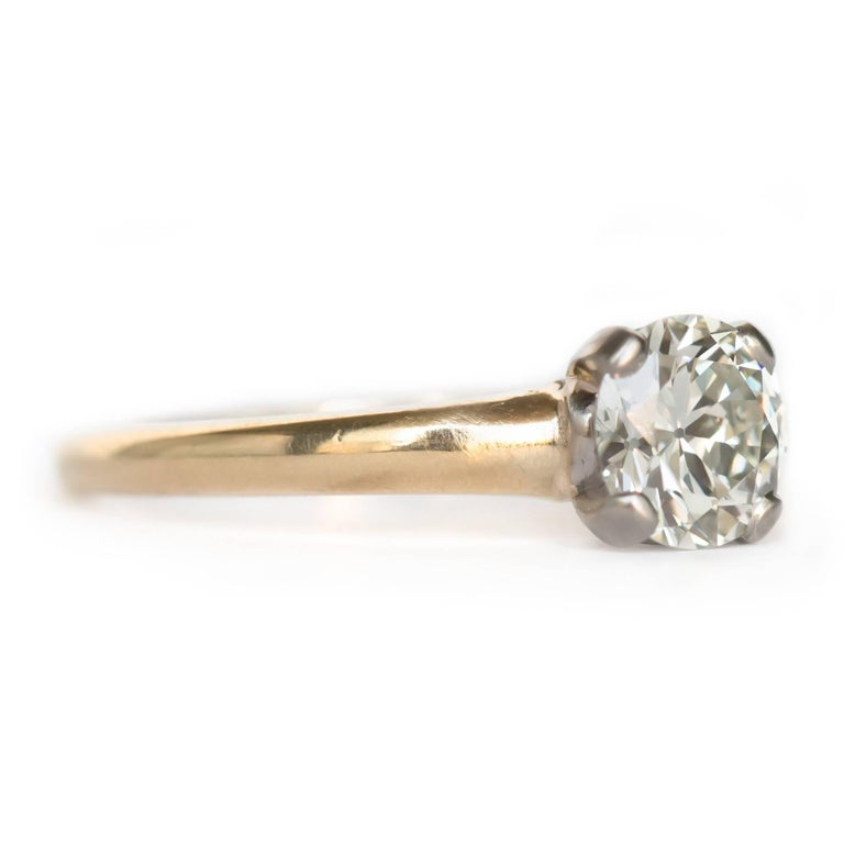 certified 0 95 carat platinum and yellow gold