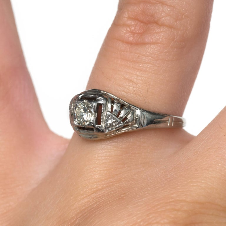 .20 Carat Diamond White Gold Engagement Ring For Sale 2