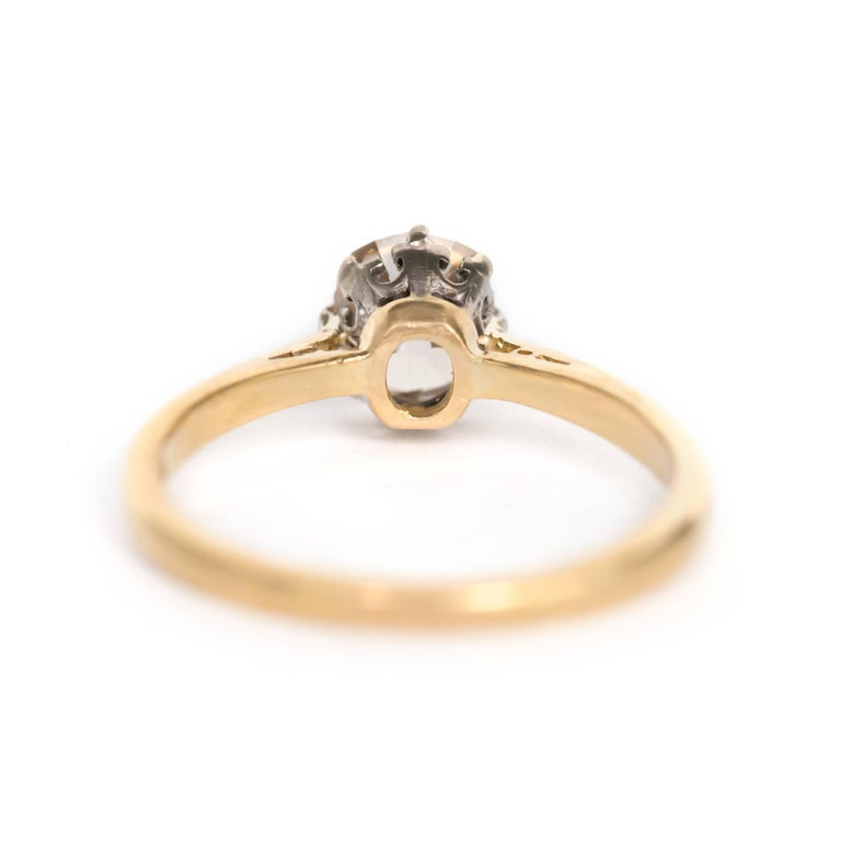1.51 Carat Diamond 14 Karat Yellow Gold Engagement Ring In Excellent Condition For Sale In New York, NY