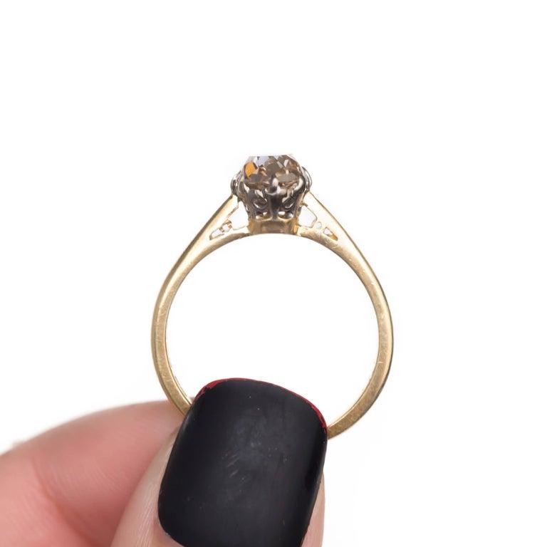 Women's 1.51 Carat Diamond 14 Karat Yellow Gold Engagement Ring For Sale