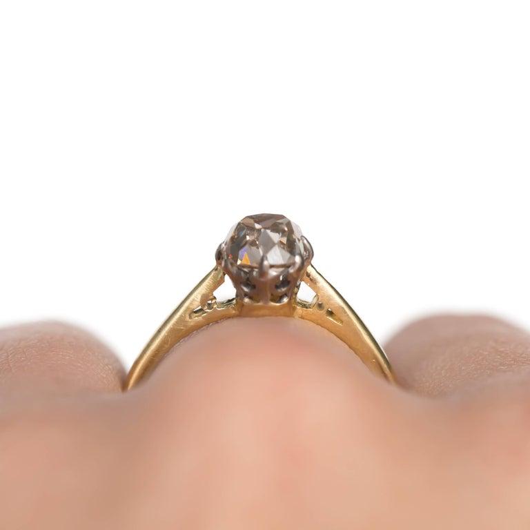 1.51 Carat Diamond 14 Karat Yellow Gold Engagement Ring For Sale 3