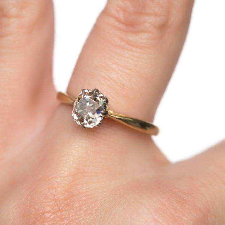 1.51 Carat Diamond 14 Karat Yellow Gold Engagement Ring For Sale 2