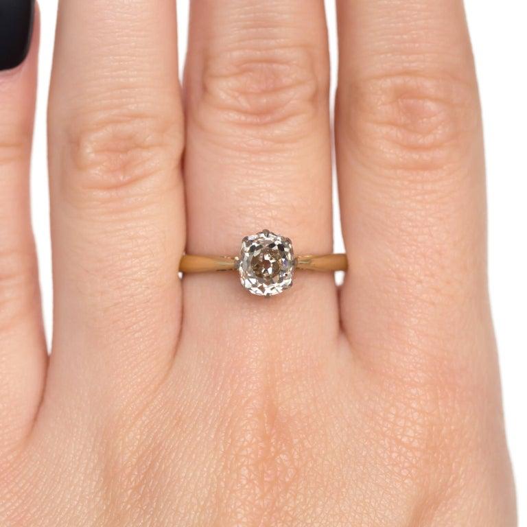 1.51 Carat Diamond 14 Karat Yellow Gold Engagement Ring For Sale 1