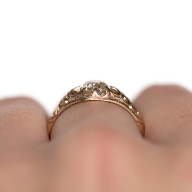 .83 Carat Diamond 14 Karat Yellow Gold Engagement Ring For Sale 3