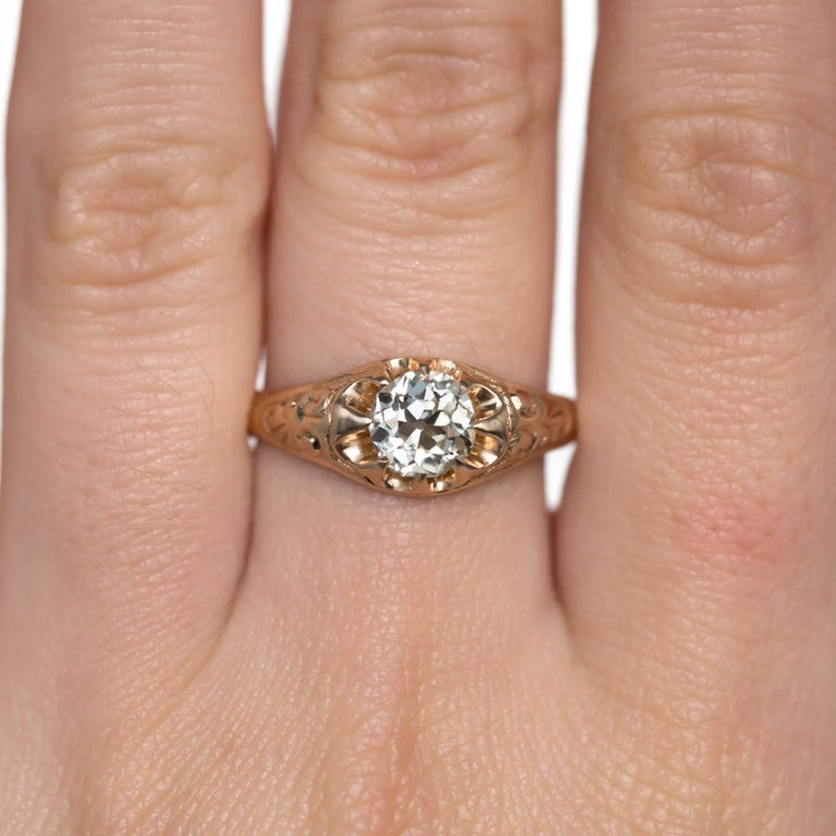 .83 Carat Diamond 14 Karat Yellow Gold Engagement Ring For Sale 1