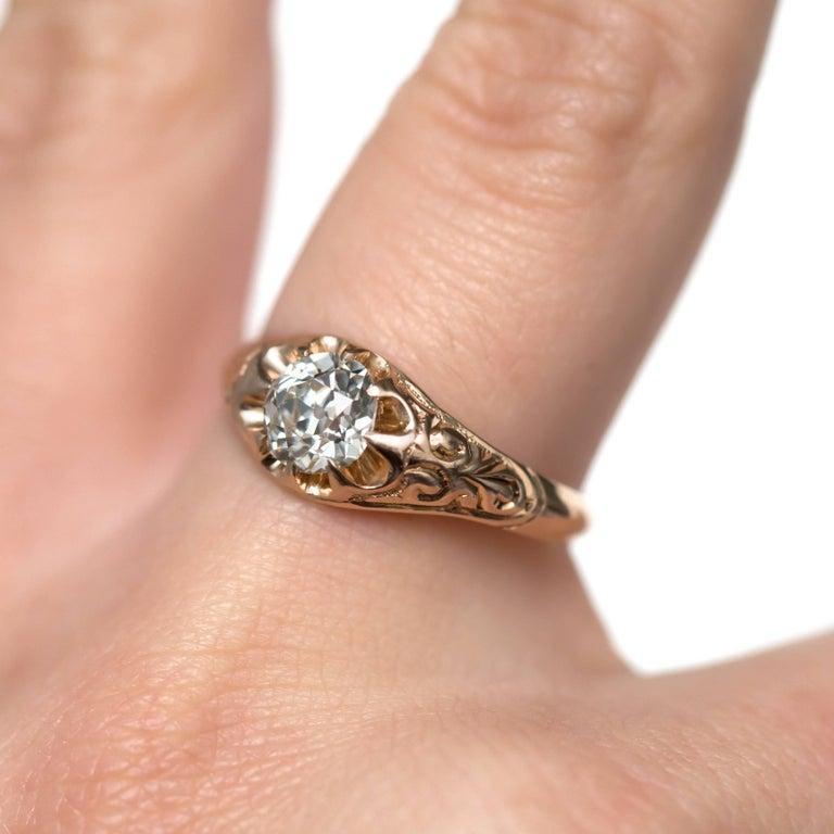 .83 Carat Diamond 14 Karat Yellow Gold Engagement Ring For Sale 2