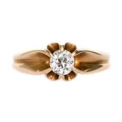 .45 Carat Diamond Yellow Gold Engagement Ring