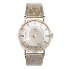Vacheron & Constantin LeCoultre White Gold Mystery Manual Wind Wristwatch, c1950
