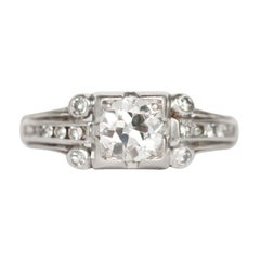.65 Carat Diamond Platinum Engagement Ring
