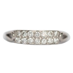 .20 Carat Total Weight Diamond Platinum Wedding Band