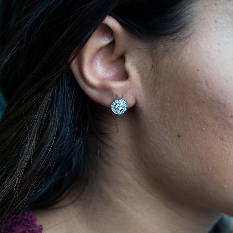 Contemporary .53 Carat Total Weight Platinum Tiffany & Co. Earrings For Sale