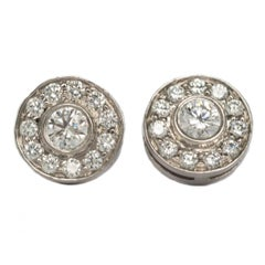 .53 Carat Total Weight Platinum Tiffany & Co. Earrings