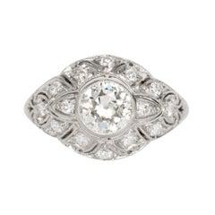 GIA Certified 1.03 Carat Diamond Platinum Engagement Ring