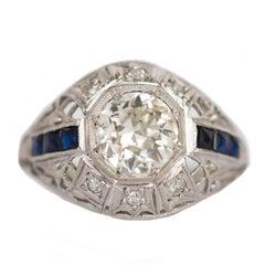 1.10 Carat Diamond Platinum Engagement Ring