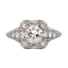 GIA Certified 1.00 Carat Diamond Platinum Engagement Ring