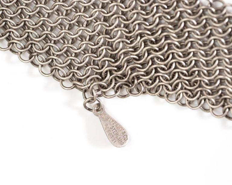 792a09a6c Tiffany & Co. Mesh Tie Scarf / Necklace Elsa Peretti Collection Features  Chain Link Design